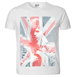 Camiseta David Bowie de hombre - Design: Union Jack & Sax