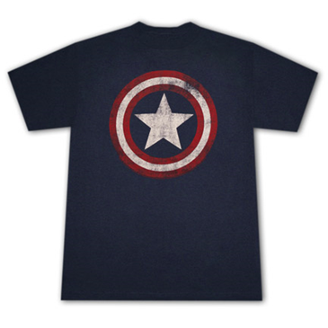 Camiseta CAPTAIN AMERICA Distressed Shield Logo