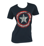 Camiseta CAPTAIN AMERICA Distressed Shield