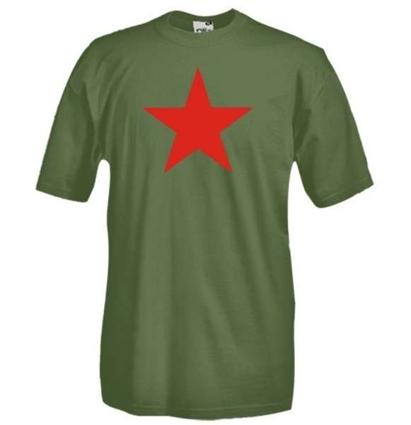 Camiseta Estrella Roja Comunismo 8c43183ec93f