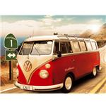 Poster Californian Camper Route 1