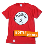 Camiseta Dr. Seuss - Inspired Drunk 2 Bottle Opener Halloween Costume