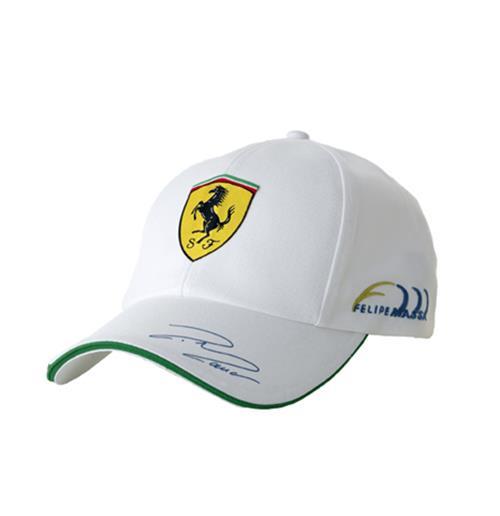 Compra Gorra Ferrari Felipe Massa - blanca Original 057da71209a