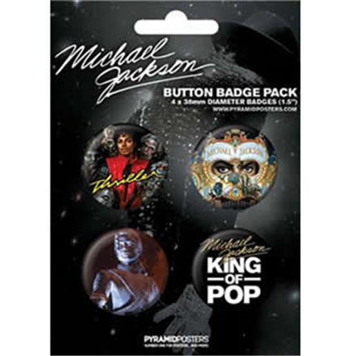 Set Chapitas Michael Jackson-King Of Pop