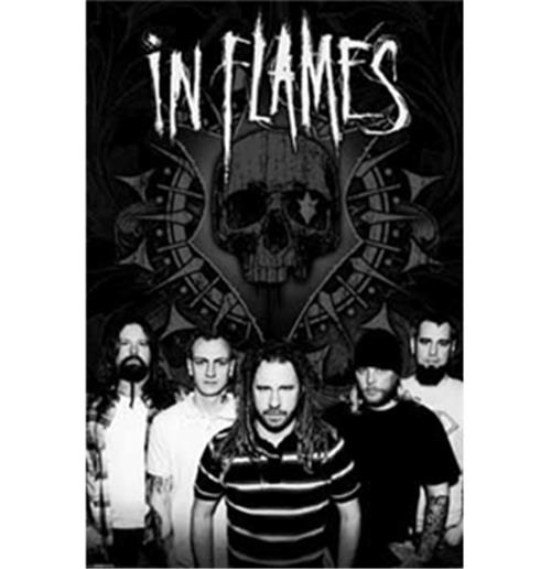 Poster In Flames-B/W Group