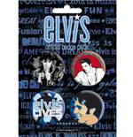Set Chapitas Elvis-The King