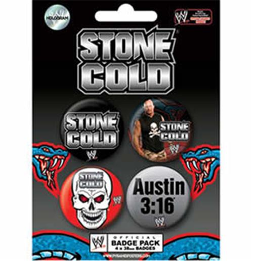 Set Chapitas Wwe-Stone Cold