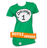 Camiseta Dr. Seuss Inspired Drunk 1 Bottle Opener de chica