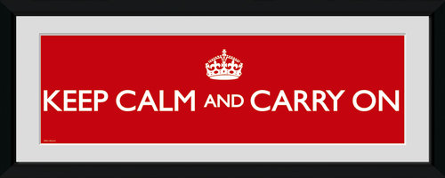 Póster Keep Calm and Carry On 62790