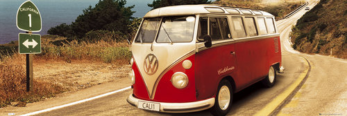 Póster VW Californian Camper Route One Door