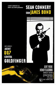 Póster James Bond - 007 Goldfinger