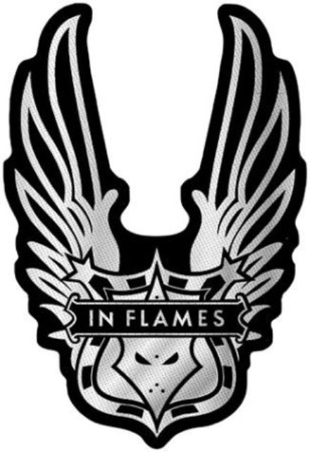 Parche In Flames Toppa In Flames Winged Logo Cut Out
