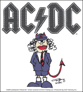Pegatina AC/DC - Cartoon Angus