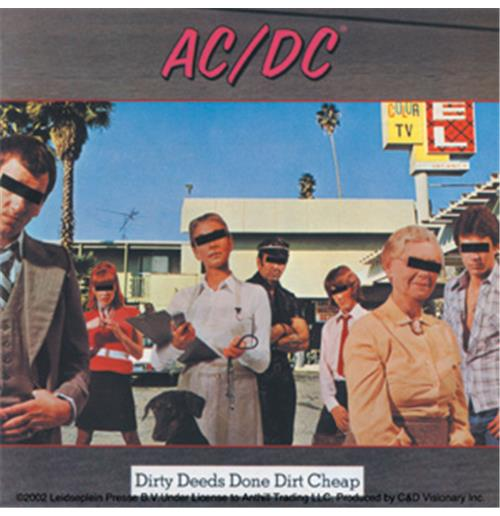 Pegatina AC/DC - Dirty Deeds