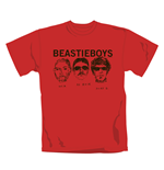 Camiseta Beastie Boys Red Faces. Producto oficial Emi Music