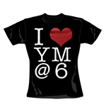 Camiseta You Me At Six I Heart. Producto oficial Emi Music