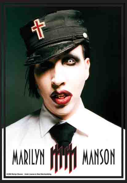 Bandera Marilyn Manson - Mm Logo