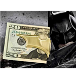 Batman The Dark Knight Rises Clip para billetes Bronce Batarang