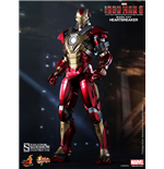 Iron Man 3 Figura Movie Masterpiece 1/6 Iron Man Mark 17 Heartbreaker 30 cm