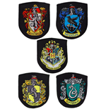 Harry Potter Pack de 5 Parches Escudos de las Casas