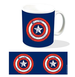Marvel Taza Captain America Shield Logo