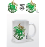 Harry Potter Taza Slytherin Stencil Crest