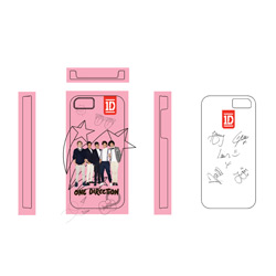 One Direction iPhone4S  Cover 1D Motivo: Pink Stars